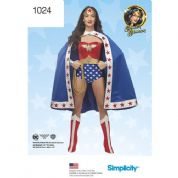 1024 Simplicity Pattern: Ladies Wonder Woman Costume